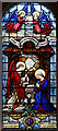 TQ1976 : Our Lady of Loreto and St Winefride, Leyborne Park, Kew - Stained glass window by John Salmon