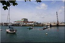 SY6878 : Weymouth Ferry quay during refurbishment by John Stephen