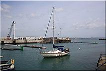 SY6878 : Weymouth ferry quay refurbishment by John Stephen