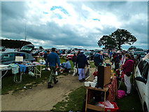 SE4248 : Car Boot by Wetherby Racecourse by Andy Farrington