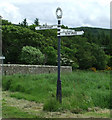 NS0956 : Finger post sign by the A844 road by Thomas Nugent