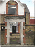 TQ3176 : Gate to School-keeper's house, Cormont Road by Robin Stott