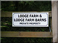 TM3685 : Lodge Farm sign by Adrian Cable