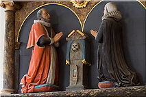 SX9192 : St Mary Arches church, Exeter - monument to Thomas Walker (detail) by Mike Searle