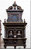 SX9192 : St Petrock's church, Exeter - monument to William Hooper and wife by Mike Searle