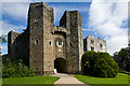 SX8362 : Berry Pomeroy Castle - the gatehouse by Mike Searle