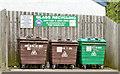 J3069 : Recycling bins, Finaghy, Belfast by Albert Bridge