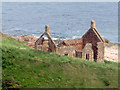 NT9659 : Ruined building at Lamberton Skerrs by Graham Robson
