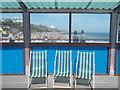 SZ0890 : Bournemouth: three pier deckchairs by Chris Downer