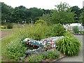 SR9796 : Mosaic crocodile, Stackpole Walled Gardens by Robin Drayton