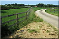 SP7827 : Entrance to Red Hall Farm by Philip Jeffrey
