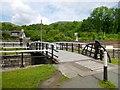 NS4573 : Bascule bridge at Bowling Harbour by Lairich Rig
