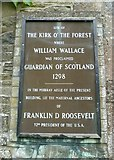 NT4728 : Kirk o' the Forest entrance sign by kim traynor