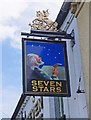 SP0366 : Seven Stars (2) - sign, 75 Birchfield Road, Headless Cross, Redditch by P L Chadwick