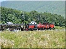 SH5752 : Caernarfon bound train leaving Rhyd Ddu Station by John M