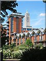 TQ3180 : Oxo Tower viewed from Bernie Spain Gardens by Patrick Mackie