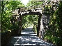 SH6441 : Railway bridge at Tan y Bwlch by John M