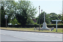 TM1131 : Mistley War Memorial and Village Sign by Peter Pearson