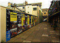NY1130 : History wall, Cockermouth by Julian Osley
