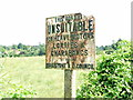TQ7552 : Old sign, Busbridge Road, Loose by Chris Whippet