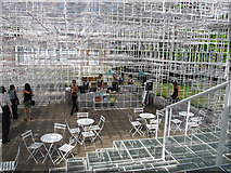 TQ2679 : Coffee bar of Serpentine Gallery Pavilion 2013 by David Hawgood