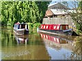 SJ8934 : Narrowboats on the Trent and Mersey Canal at Stonebridge by David Dixon