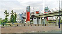 TQ4380 : Gallions Reach station, DLR 1996 by Ben Brooksbank