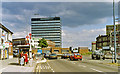 TQ4388 : Approaching Gants Hill station on Eastern Avenue, 1993 by Ben Brooksbank