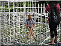 TQ2679 : Customer seems to float in Serpentine Gallery Pavilion 2013 by David Hawgood