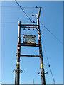 SJ9793 : Electricity supply junction box by Stephen Burton