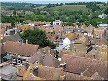 TQ9220 : View west-north-west from Rye Church tower by Christine Johnstone