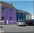 SN1200 : Purple house and dark blue office, Tenby by Jaggery