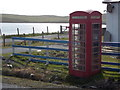HU4587 : West Sandwick: red telephone box by Chris Downer
