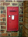 SP7327 : Victorian postbox at Verney Junction by Philip Jeffrey