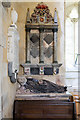 SW8542 : St Michael's church, St Michael Penkevil - monument to Hugh Boscawen by Mike Searle