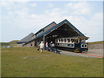 SH7783 : Halfway station, Great Orme Tramway by Mrs J Whatley