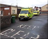 SO6302 : Two ambulances, Lydney by Jaggery