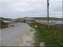 HU4545 : Road end, Dales Voe by Richard Webb