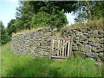 SE0023 : Gate and steps on Hebden Royd FP112 by Humphrey Bolton
