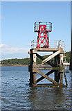 NT1378 : Hawes Pier Light by Anne Burgess