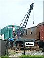 SX8061 : South Devon Railway - crane restoration by Chris Allen