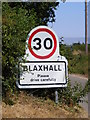 TM3657 : Blaxhall sign on Station Road by Adrian Cable