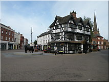SO5140 : Old House and Hereford bull statue by Keith Edkins