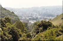 TQ4210 : Lewes on a Hazy Day by Peter Jeffery