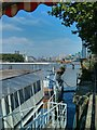 TQ2977 : River Thames viewed from Battersea Barge by PAUL FARMER