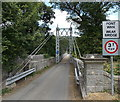 SO1141 : SW side of Llanstephan suspension bridge by Jaggery