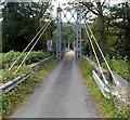 SO1141 : NE end of Llanstephan suspension bridge by Jaggery