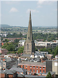 SO5040 : View from Hereford Cathedral Tower 4 - NNW by Keith Edkins