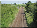 NY2045 : Leegate railway station (site), Cumbria by Nigel Thompson