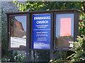 TM3389 : Emmanuel United Reformed & Methodist Church sign by Adrian Cable